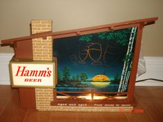 $1535  RARE HAMMS BEER HAMM'S MOTION MOON TO MOON LIGHTED STARRY SKIES SIGN GREAT | eBay