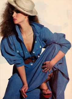 Irving Penn for American Vogue, February 1983. Clothing by Norma Kamali.