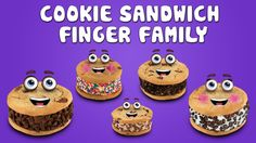 The Finger Family Cookie Sandwich Family Nursery Rhyme | Cookie Sandwich Finger Family Songs