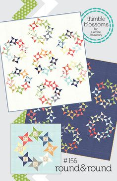 Round & Round quilt pattern | Camille Roskelley - uses charm squares