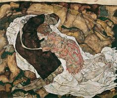 """Egon Schiele, """"Young Woman and Death"""", 1915"""