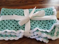Hand Crocheted Chunky Baby Blanket by Twiddliebits on Etsy
