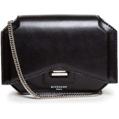 Givenchy New Line mini leather cross-body bag (5,170 MYR) ❤ liked on Polyvore featuring bags, handbags, shoulder bags, black, crossbody purse, black leather purse, leather crossbody purse, black crossbody purse i leather handbags