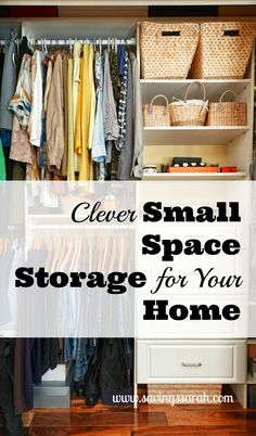 Never enough storage space in your home? Take a look at these clever storage solutions for those small spaces in your house. They may make all the difference!