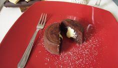 Lava cake con cuore di cioccolato bianco