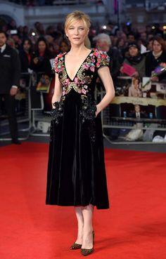 Cate Blanchett de Schiaparelli Alta Costura en el festival de Londres