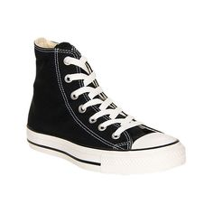 Converse Women's Chuck Taylor Hi Casual Shoes, Black ($55) ❤ liked on Polyvore featuring shoes, sneakers, black, converse high tops, lace up sneakers, high top sneakers, evening shoes and black lace up shoes