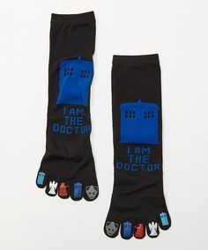 Everything Legwear Doctor Who I Am the Doctor Toe Crew Socks - Women | zulily