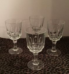 Crystal Wine Glasses by FairXchanged on Etsy