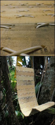 How to Make a Pallet Hanging Chair With Paracord