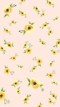 Phone Wallpaper Design, Flower Phone Wallpaper, Cute Patterns Wallpaper, Iphone Background Wallpaper, Mobile Wallpaper, Wallpaper Desktop, Girl Background, Yellow Background, Background Designs