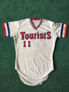 82ffb6a7e 1987 Asheville Tourists Game Used Baseball Jersey