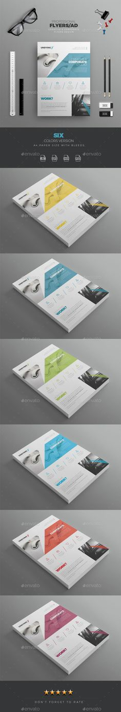 Undying Creative & Corporate Flyer Template PSD, Vector EPS, InDesign INDD, AI Illustrator. Download here: http://graphicriver.net/item/corporate-flyer/16410784?ref=ksioks