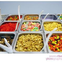 A glimpse of our toppings bar!