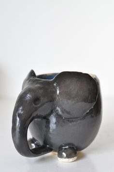 Safari Collection: Ceramic Elephant Mug // by MaaMaaCourt on Etsy