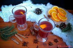"""Pomerančový punč: """"Vánoční pohoda plápolající oheň punč na zahřátí :)"""" Alcoholic Drinks, Punk, Glass, Food, Drinkware, Corning Glass, Essen, Liquor Drinks, Meals"""