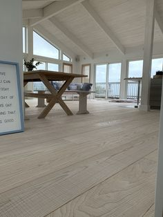 Engineered Natural White Ash Flooring, rippled texture - Coastal interior.  British Manufacturer . Exports worldwide. £73.45m2. Click to order FREE samples.