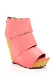 MESSECA  Coraline #shoes #wedges #heels #coral