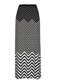 Chevron print pull on maxi skirt (original price, $34) available at #Maurices