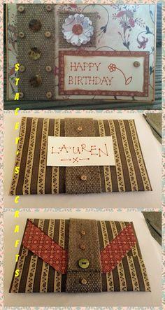 Vintage floral birthday card and envelope
