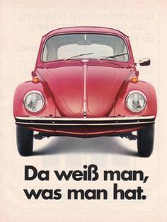 Beetle ad - Werbung 1969