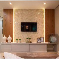 Home Theater Planejado Vidro 30 Ideas Tv Cabinet Design, Tv Wall Design, Home Living Room, Living Room Decor, Tv Unit Interior Design, Modern Tv Wall Units, Living Room Tv Unit Designs, Home Tv, Home Decor