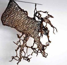 Beautiful Crochet Sculpture.