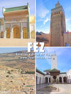 Medina Antiga de Fez Marrocos Marrakech Morocco, Moroccan Design, Jerusalem, Adventure Travel, Taj Mahal, Trips, Places To Visit, France, Mansions