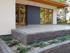 Stone Patio Designs, Concrete Patio Designs, Small House Design, Modern House Design, Pergola Patio, Backyard Patio, Facade House, Front Yard Landscaping, House Painting