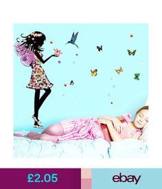 4 55 Erfly Flower Fairy Removable Mural Vinyl Decal Wall Sticker Room Home Decor Ebay Garden Products Pinterest Fairies