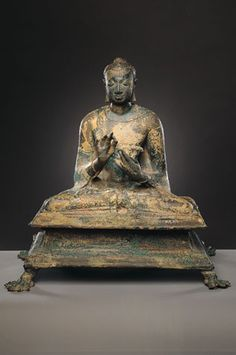 Buddha   India; Gupta period (c. 319 - 6th century), 6th century   Copper alloy