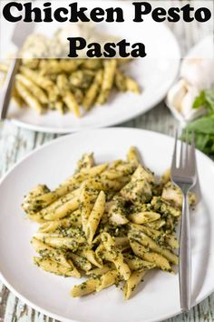 Chicken pesto pasta. This delicious and easy to make homemade pesto with pasta dinner is a perfect family meal for busy weeknights. #neilshealthymeals #chickenpestopasta #chickenpasta #chickenpesto Pesto Pasta Dishes, Pesto Pasta Recipes, Quick Healthy Meals, Easy Weeknight Meals, Tasty Pancakes, Homemade Pesto, Pesto Chicken, Easy Family Meals, Savoury Dishes