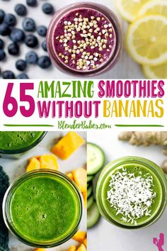 Do you HATE banana in your smoothie, then these 65 smoothies without bananas is for YOU! :) Perfect for breakfast, a snack or on-the-go you are sure to find banana-free smoothie recipes you LOVE!