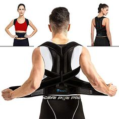 Breathable Back Support Brace - Vest for Women and Men - Straighten and Correct Posture Corrector Provides Lumbar Support - Adjustable Waist in Household-Personal Care Supplies-Equipment Splints-Slings Neck-Shoulder Supports Braces Back Brace For Posture, Back Brace Posture Corrector, Posture Corrector For Women, Back Pain Exercises, Neck And Shoulder Pain, Bad Posture, Posture Correction, Improve Posture, Muscle Pain
