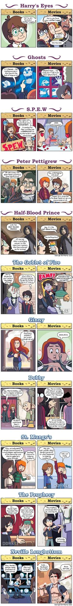 Ways Harry Potter movies are different from the books