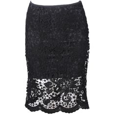 Lace Pencil Skirt With Scallop Hem found on Polyvore featuring polyvore, women's fashion, clothing, skirts, stylemoi, white, white fitted skirt, white scalloped skirt, lace skirt and pencil skirt