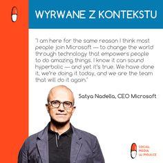 Satya Nadella, nowy CEO Microsoftu