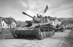 Su-76M Soviet self-propelled artillery system Su-76M in Vienna in 1945,