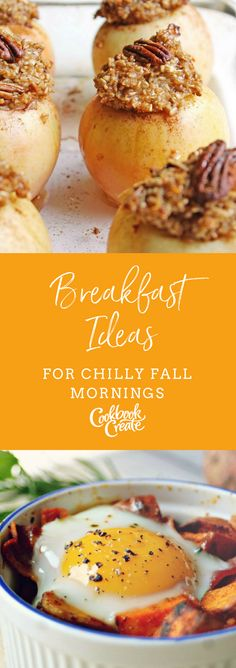 Breakfast Ideas for Chilly Fall Mornings | Create your personalized cookbook with your recipes and photos at www.CookbookCreate.com