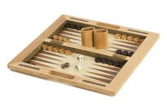 "16"" Wooden Chess Backgammon & Checkers Set. We have chess, backgammon, checkers, go, mahjong, dominoes, all the classic board games.  So stop in and check them out and remember Dad for Father's Day while you're at it! http://www.thegamesupply.com/backgammon-game-sets/"