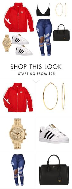"""FROM TIME"" by aminay2005 on Polyvore featuring NIKE, Nadri, Michael Kors, adidas and MCM"