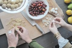 grapes wrapped in goat cheese and crushed walnuts - love! via a daily something @Rebecca Beach