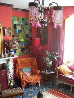 ห้องนั่งเล่นสไตล์โบฮีเมียน (Bohemian liveing room) ~ บ้านแสนรัก