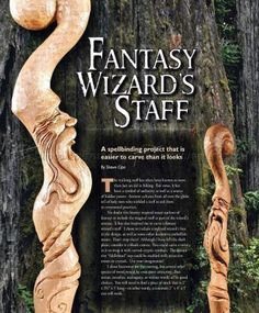 #957 Carving Wizard Staff - Wood Carving Patterns - Wood Carving Patterns and Techniques