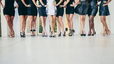 Bachelorette Party Girls Night Out Little Black Dress but have the bride wear white!