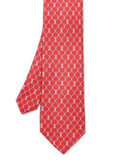 Italian Silk Tie in Knot Link in Red by J.McLaughlin