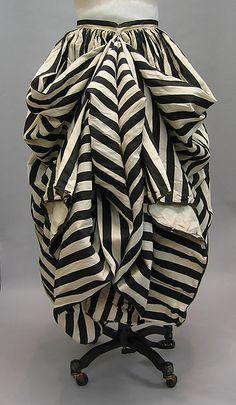 Beachwear 1860s 70s French, cotton