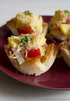 quick bread tartlets with potato and cheese