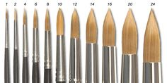 Watercolor tips site. This one explains use of different brushes.