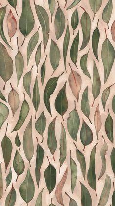 leaf pattern illustration by natalie ryan Motifs Textiles, Textile Patterns, Textile Design, Fabric Design, Leaf Patterns, Textile Prints, Et Wallpaper, Pattern Wallpaper, Deco Floral